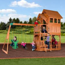 Backyard Adventures Price List Liberty Ii Wooden Swing Set Playsets Backyard Discovery