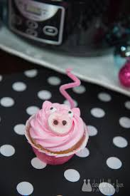 tutorial how to make pink pig cupcakes