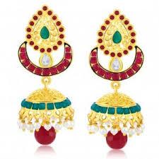 fancy jhumka earrings jhumkas earrings fancy gold jhumke online shopping pn gadgil
