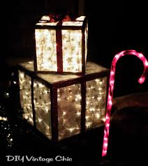 indoor lighted gift boxes diy vintage chic how to make lighted christmas presents for outdoors