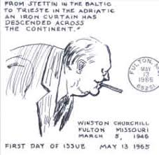 Iron Curtain Speech Virgil Crow Cachets 1965