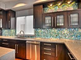 kitchen backsplash tile with white cabinets stainless refrigerator