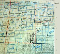 Map Of Saskatchewan Wood River District One Room Houses Near Gravelbourg