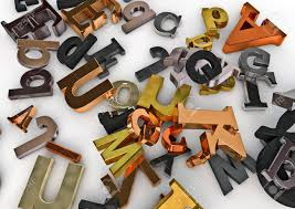 imagenes variadas en 3d letras metálicas 3d rinden de letras de metal variados fotos