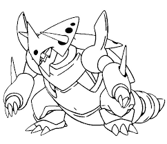 coloring mega evolved pokemon mega aggron 306 306