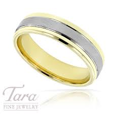 two tone mens wedding bands mens wedding band in two tone gold 9 4 grams size 10 tara