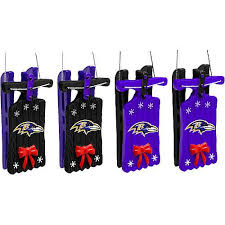 baltimore ravens ornaments sleigh hanging set of 4