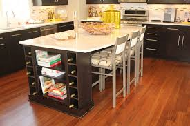 fascinating kitchen table island with chairs also bookcase at end