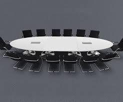 White Boardroom Table Melamine Boardroom Tables