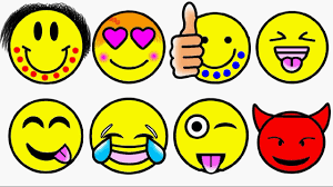 how to draw and color emoji l emoticons faces coloring pages