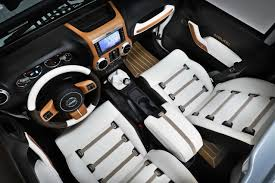 luxury jeep interior the jeep wrangler nautic noir s design is inspired by a luxury yacht