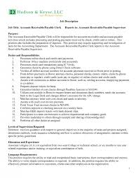 cover letter accounts receivable job description sample accounts