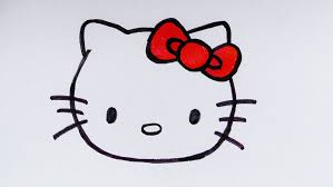 coloring page engaging kitten face drawing simple cat how to