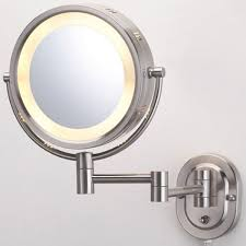 halo swinging lighted vanity mirror bathroom