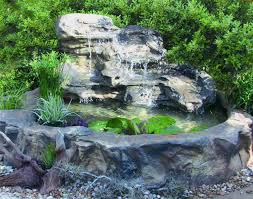large patio garden pool waterfall rock u0026 artificial pond kits