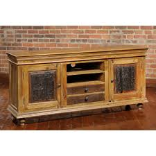 furniture interesting reclaimed wood tv stand for home furniture reclaimed wood tv stand on wooden floor and bricked wall for home interior design ideas