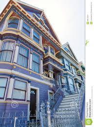 san francisco victorian houses in haight ashbury california stock