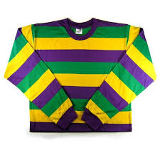 mardi gras sweatshirt mardi gras classic striped sleeve t shirt also