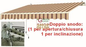 tenda da sole prezzi da sole con braccia retrattili rossa cm 295x200