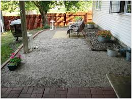 backyards fascinating front yard pea gravel patio mulch amp