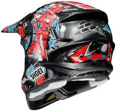 yamaha motocross helmet amazon com shoei vfx w barcia off road helmet black red blue