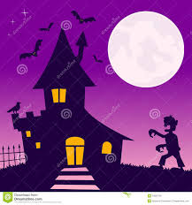 halloween haunted house background images haunted house with zombie stock photo image 34282760