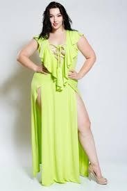 maxi dresses on sale plus size ruffled front maxi dress sale slayboo