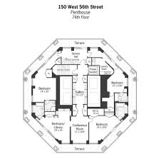 New York Apartments Floor Plans One Of The Most Expensive Penthouses In Manhattan Idesignarch