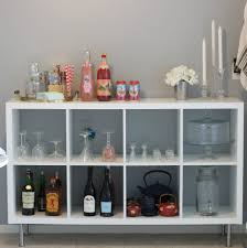 ikea bookshelf to barcart daily dose of darling
