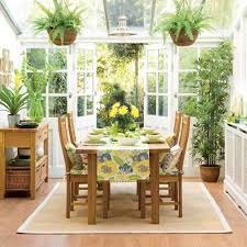 small porch for dining and relaxing with small garden interior
