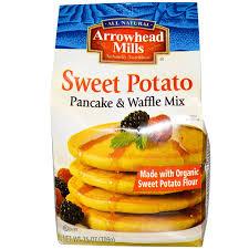 Pancake Flour Arrowhead Mills Pancake U0026 Waffle Mix Sweet Potato 25 Oz 709 G