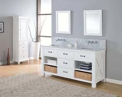 amador double 70 inch transitional bathroom vanity pearl white