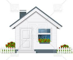 house with porch small country house with porch and flue royalty free vector clip