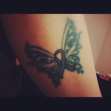 26 cool ribbon tattoos on leg