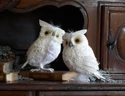 plain decoration owl decorations ornament set rustic