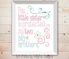 Decor Baby by Nursery Wall Decor Baby Little Sister Big Brother Kids