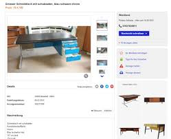 Schreibtisch Vintage G Stig Vintage Schreibtisch 60er 70er Jahre Herman Miller Knoll