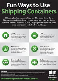 infographic fun ways to use shipping containers