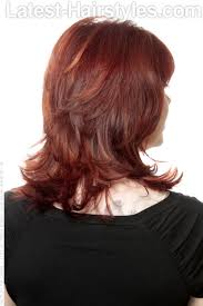 medium length hair styles from the back view medium layered hairstyle with bangs and layers back view i like the