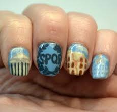 challenge your nail art let u0027s go camping theme nature