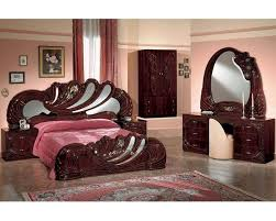 Antique Finish Bedroom Furniture by Bedroom Set Mahogany Finish Made In Italy 44b8411m
