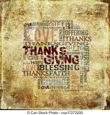 giving thanksgiving blessing grunge style background stock