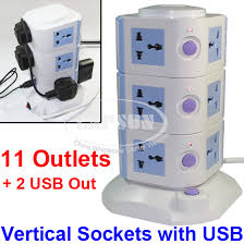 ls with usb outlets 11 ways power strip multi switched vertical socket outlet 2 usb