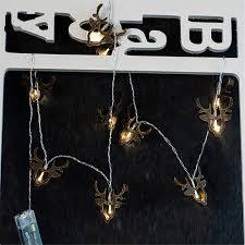 H Sta Schlafzimmer Beleuchtung Holz Rentier Weihnachtsbeleuchtung 10 Leds Batteriebetriebene