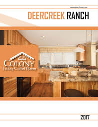 Colony Homes Floor Plans by Colony Homes Deercreek Ranch 2017 By The Commodore Corporation Issuu