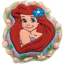 adorable ariel cake wilton