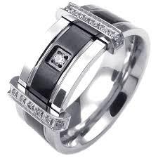 mens stainless steel rings konov mens cubic zirconia stainless steel ring charm