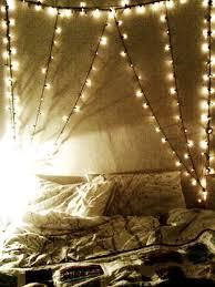 fairy light bed alternative bedroom ideas pinterest