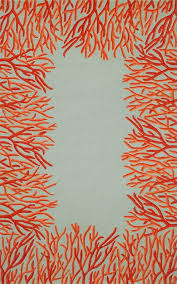 Tropical Outdoor Rugs Orange Coral Bordered Area Rug Indoor Outdoor Rugs Outdoor Rugs