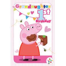 peppa pig birthday 1st birthday granddaughter peppa pig birthday card 217483